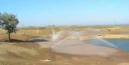 Obras de riego en campos de golf