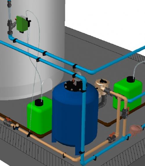 Planta de Tratamiento de Agua Potable modelo FMD-TAP ® 300/1500-Fe/Mn para 40 Usuarios